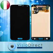 FRAME Samsung Galaxy S5 i9600 G900F VETRO SCHERMO NERO +TOUCH SCREEN+LCD RETINA