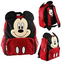 "Disney Mickey Mouse Kids Toddler Backpack School Book bag Boys 14"" Children Gift"