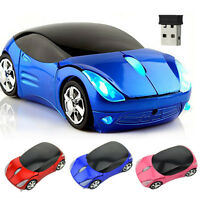 2.4Ghz Wireless Speed Car Mouse optical For PC Computer Mice + USB Receiver