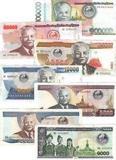 LAOS FULL Set 1000 2000 5000 10000 20000 50000 100000 Kip (1996-11) P-32-P-42