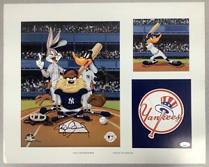 Roger Clemens Signed Print 16x20 Baseball Bugs Bunny Sericel WS Yankees Auto JSA