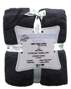 4 Pack 700 GSM Extra Large Bath Sheet Towel Set 100% Egyptian Cotton Spa Towels