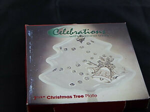 """Celebrations with Warmest Wishes 7 1/2"""" Christmas Tree Plate Brand New"""