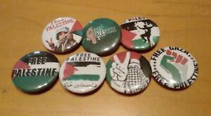 Free Palestine Button Badges