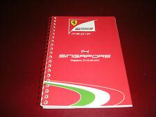 FERRARI FORMULA1 LIBRETTO MEDIA GP SINGAPORE 2012 -OTTIME CONDIZIONI,