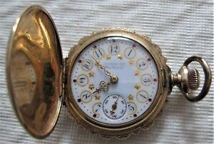 Antique American Waltham 14k Gold / Hunter Case Pocket Watch