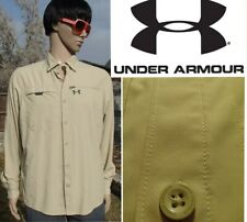 UNDER ARMOUR tide chaser fishing shirt long sleeve vented sun protection mens MD