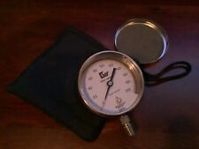 New listing Ashcroft 0-200Psi Pressure Gauge Aisi 316 Welded Usa &Protective Case