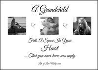 A4 Grandparent Grandad, Nanny Personalised Gift Keepsake birthday, Christmas