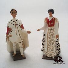 Lot 2 Figurines CBG Mignot Napoléon 1er Bonaparte Joséphine Impératrice Sacre