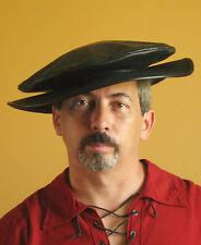 Medieval Celtic Renaissance SCA Larp Empire Leather Hat Large Brim