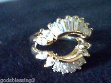 2.00CTW  BAGUETTE & MARQUISE LCS DIAMOND  WEDDING RING GUARD ENHANCER SZ 9