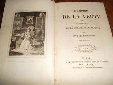 Madame de la BRETONNIERE L'empire de la vertu ou l'influence de la morale éva