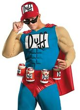 Duffman Costume The Simpsons Adult Muscles Duff Man Beer - Plus Size XL 42-46