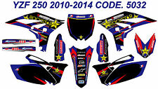 5032 YAMAHA YZF 250 2010 2011 2012 2013 DECALS STICKERS GRAPHICS KIT