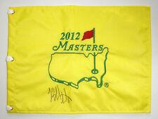 Bubba Watson signed Masters 2012 Augusta National pin flag. COA. Proof.