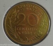 20 centimes marianne 1982 : SUP : pièce de monnaie française