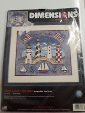 """Dimensions  """"HOPE LIGHTS THE WAY""""  No Count Cross Stitch Kit Unopened 14"""" x 12"""""""