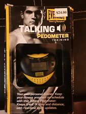 2002 EVERLAST TALKING PEDOMETER W/ VOICE ANNOUNCEMENTS MUSIC TIME / ALARM - NEW
