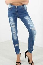 Cotton Boyfriend Distressed Plus Size Jeans for Women