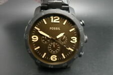 New Old Stock FOSSIL Nate JR1356 Chronograph Stainless Steel Quartz Men Watch