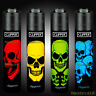4 x Clipper Lighters RARE Gas Lighter Refillable Flint | Skulls