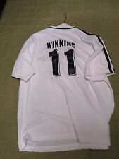 RARE! Promotional Konami Winning 11 Soccer Shirt White with Black Stripes XL