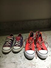 Two Pairs Of Girls Converse All Stars Size 2