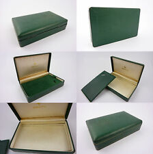 Zenith box NATO star etui ecrin uhrenbox green leather and silk  NOS (lot 60)