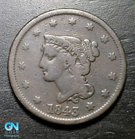 1843 Braided Hair Large Cent --  MAKE US AN OFFER!  #B5633
