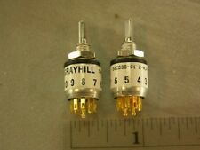Grayhill Mil Spec 50cd36 01 2 Ajn Dp 2 Pole 4 Position Rotary Switch