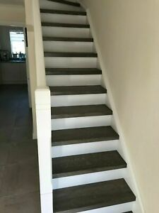 oak stair treads and staircase components - grey