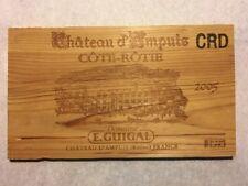 1 Rare Wine Wood Panel Chateau d'Ampuis Côte Rôtie Vintage CRATE BOX 4/18 550