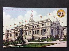 #74 RP Vintage Postcard USA - Seattle Exhibition 1909 - European Foreign Exhibit