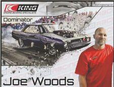 "2017 Joe Woods ""Dominator"" King Engine Dodge Dart SEMA Street Outlaws postcard"