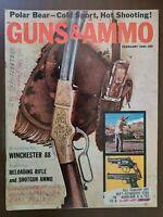 GUNS & AMMO Vintage Magazine February 1961 Winchester 88 Polar bear hunting