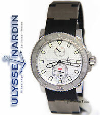 Ulysse Nardin Maxi Marine Diver Chronometer Steel Silver Dial Mens Watch 263-33