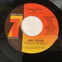 Ann Sexton: You're Losing Me / You're Gonna Miss Me 45 - Funk Soul