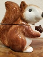 🐿 Better Homes And Gardens Earthenware Squirrel And Acorn Cookie Jar Vintage