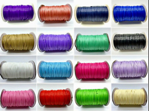 Waxed Cotton Thread String Rope Jewelry Cord Strap Necklace Making Craft 0.5-2mm