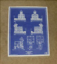 HUDSON ATHENS NY River LIGHTHOUSE 1874 Builders Blueprint Plan