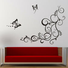 Amovible Sticker Mural Fleur Papillon Autocollant DIY Art Déco Mur Chambre Salon