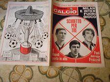CALCIO RIVISTA SUPERCALCIO ANNO II NR2 POSTER  FACCHETTI  13-1-1970 IMOLA SAVOIA