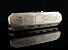 Victorian sterling silver spectacle case, glasses case
