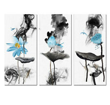 Modern Wall Art Chinese Ink Lotus Abstract Print Painting On Canvas Home Decor