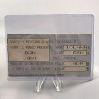 Bon Jovi Seashore Performing Arts Center ME Concert Ticket Stub Vtg June 6 1989
