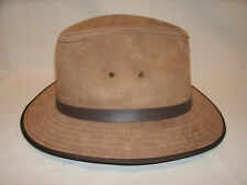Jaxon Nubuck Safari Chestnut Leather Hat ~ Size Medium ~ #2
