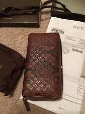 407247f9b38e Gucci Python micro Guccissima bifold wallet brown 100% authentic new