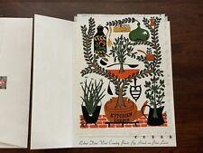 NOS Vintage Linen Art Country Prints Robert Darr Wert by Hand Kitchen Garden MCM
