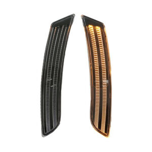 Front Bumper LED Side Marker Light for 2015+ Cadillac ATS - Clear/Black/Amber